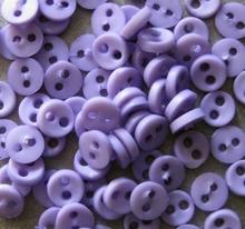 6 Miniknöpfe - Leicht/violett  4 mm