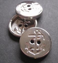 Ankerknopf-silberfarbe  15 mm