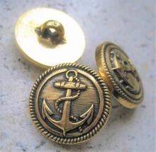 Ankerknoop-goudkleur  15 mm