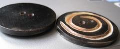 Knoop - Hoorn  40 mm