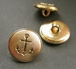 Ankerknopf-goldfarbe  15 mm