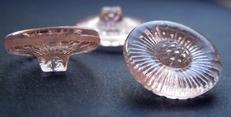 Glasknoop - roze  18 mm
