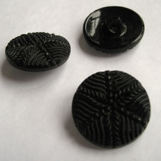 Glasknoop - zwart  12 mm