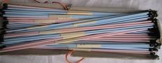 Breinaalden -25 paar roze en 25 blauw  29 cm