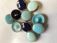 10 Glasknopen - blauw  22 mm