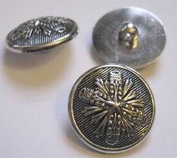 Zilverkleur-Knoop  25 mm