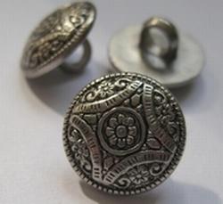 Silber-Knopf  15 mm