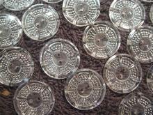 12 Buttons - transparent  18 mm