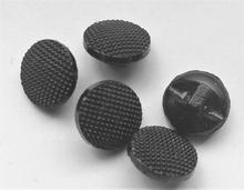 Glasknoop - zwart  11 mm