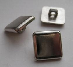 Zilverkleur-Knoop  12 mm