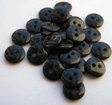 Poppenknoopje - zwart  7,5 mm
