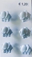 6 olifantjes  13 mm