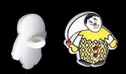 Clown - geel  17 x 14 mm