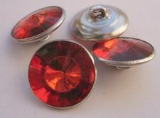 Strassknoop - rood  13 mm