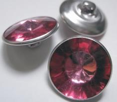 Strassknoop - fuchsia  18 mm