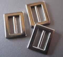 Gespje  - zilverkleur  15 x 12 mm