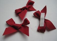4 Strikjes - rood  33 mm