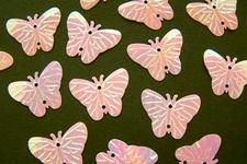 Vlinders - rose  17 x 22 mm