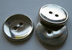 Silber-Knopf  18 mm