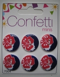 6 knopen - Confetti  21 mm