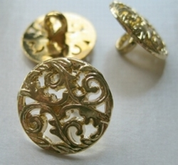 Gold - knoop  17 mm