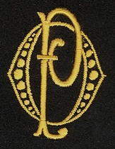 Monogram O.P.  4 x 3 cm