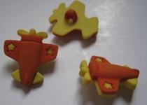 Vliegtuig - oranje  20 mm