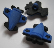 Vliegtuig - blauw  20 mm