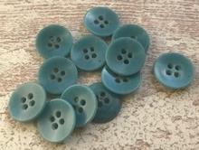 BL- Knoop - lichtblauw  15 mm