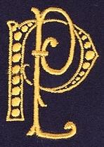 Monogram P.P.  4 x 3 cm