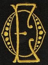 Monogram O.E.  4 x 3 cm