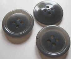 Kostuumknoop - grijs  21,5 mm