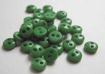 6 knoopjes - groen  5 mm