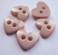 Heart - Button  9 x 10 mm