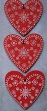 3 grote harten  45 x 49 mm