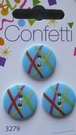3 buttons - Confetti 20 mm