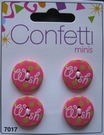 4 Buttons - Confettie 21 mm