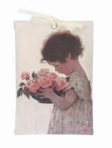 Geurzakje - Meisje met Rozenmand 17,5 x 11,5 cm