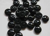 6 knöpfe - Schwarz 5 mm