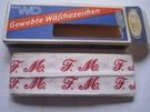 Initialen - Lint F.M. Lint 1 cm breed