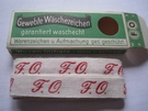 Initialen - Lint F.O. Lint 1 cm breed