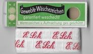 Initialen - Lint E.Sch. Lint 1 cm breed