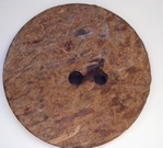 1 Knopf  - Kokosnuss 44 mm
