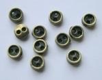 6 miniknoopjes  - brons 3 mm