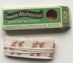 Initiaal - Lint L.C. Lint 1 cm breed