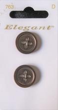 2 Knöpfe - Elegant 22 mm