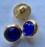 Strassknoop - blauw 18 mm