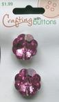 2 Strassknopen - licht paars 21 mm