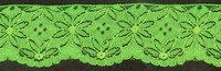 1 Meter Lace - green 63 mm