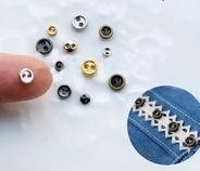 6 knoopjes - Goudkleur 5 mm